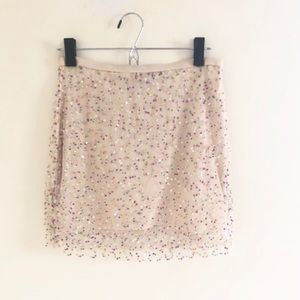 🍾 Sequined Champagne Skirt 🥂